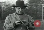 Image of Blind Senator Thomas D Schall firing a pistol Berwyn Heights Maryland USA, 1935, second 2 stock footage video 65675060566