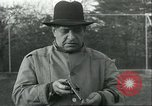 Image of Blind Senator Thomas D Schall firing a pistol Berwyn Heights Maryland USA, 1935, second 4 stock footage video 65675060566