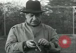 Image of Blind Senator Thomas D Schall firing a pistol Berwyn Heights Maryland USA, 1935, second 5 stock footage video 65675060566