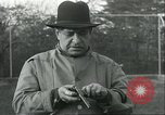 Image of Blind Senator Thomas D Schall firing a pistol Berwyn Heights Maryland USA, 1935, second 6 stock footage video 65675060566