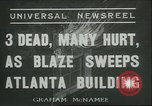 Image of Fire at Cable Piano Atlanta Georgia USA, 1936, second 1 stock footage video 65675060569