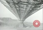 Image of span of Golden Gate Bridge San Francisco California USA, 1936, second 11 stock footage video 65675060573