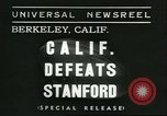 Image of college football game Berkeley California USA, 1936, second 1 stock footage video 65675060575