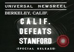 Image of college football game Berkeley California USA, 1936, second 2 stock footage video 65675060575