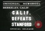 Image of college football game Berkeley California USA, 1936, second 3 stock footage video 65675060575