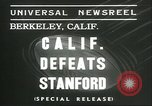 Image of college football game Berkeley California USA, 1936, second 6 stock footage video 65675060575