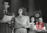 Image of Famous Hollywood personalities prepare for broadcast Hollywood Los Angeles California USA, 1943, second 5 stock footage video 65675060595