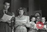Image of Famous Hollywood personalities prepare for broadcast Hollywood Los Angeles California USA, 1943, second 6 stock footage video 65675060595