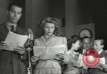 Image of Famous Hollywood personalities prepare for broadcast Hollywood Los Angeles California USA, 1943, second 7 stock footage video 65675060595