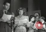 Image of Famous Hollywood personalities prepare for broadcast Hollywood Los Angeles California USA, 1943, second 8 stock footage video 65675060595
