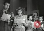 Image of Famous Hollywood personalities prepare for broadcast Hollywood Los Angeles California USA, 1943, second 9 stock footage video 65675060595