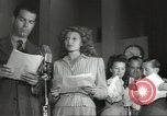 Image of Famous Hollywood personalities prepare for broadcast Hollywood Los Angeles California USA, 1943, second 10 stock footage video 65675060595