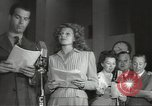 Image of Famous Hollywood personalities prepare for broadcast Hollywood Los Angeles California USA, 1943, second 11 stock footage video 65675060595