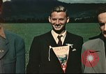 Image of US flyers escaped from internment in Switzerland Annecy France, 1944, second 2 stock footage video 65675060612