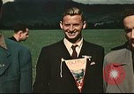 Image of US flyers escaped from internment in Switzerland Annecy France, 1944, second 3 stock footage video 65675060612