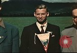 Image of US flyers escaped from internment in Switzerland Annecy France, 1944, second 4 stock footage video 65675060612