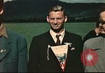 Image of US flyers escaped from internment in Switzerland Annecy France, 1944, second 5 stock footage video 65675060612