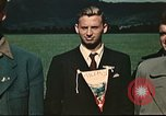 Image of US flyers escaped from internment in Switzerland Annecy France, 1944, second 6 stock footage video 65675060612