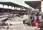 Image of railroad station Sicily Italy, 1943, second 6 stock footage video 65675060641