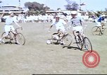 Image of Teams compete for fun in bicycle polo at Fort Stotsenburg Philippines, 1941, second 2 stock footage video 65675060828