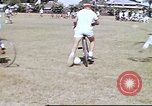 Image of Teams compete for fun in bicycle polo at Fort Stotsenburg Philippines, 1941, second 5 stock footage video 65675060828