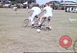 Image of Teams compete for fun in bicycle polo at Fort Stotsenburg Philippines, 1941, second 6 stock footage video 65675060828