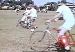 Image of Teams compete for fun in bicycle polo at Fort Stotsenburg Philippines, 1941, second 7 stock footage video 65675060828