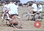 Image of Teams compete for fun in bicycle polo at Fort Stotsenburg Philippines, 1941, second 8 stock footage video 65675060828