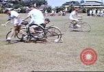 Image of Teams compete for fun in bicycle polo at Fort Stotsenburg Philippines, 1941, second 9 stock footage video 65675060828