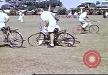 Image of Teams compete for fun in bicycle polo at Fort Stotsenburg Philippines, 1941, second 11 stock footage video 65675060828