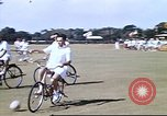 Image of Teams compete for fun in bicycle polo at Fort Stotsenburg Philippines, 1941, second 12 stock footage video 65675060828