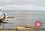 Image of Pan American California Clipper flying boat lands and docks Philippines, 1941, second 2 stock footage video 65675060830