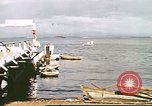 Image of Pan American California Clipper flying boat lands and docks Philippines, 1941, second 5 stock footage video 65675060830