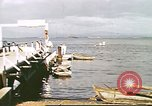 Image of Pan American California Clipper flying boat lands and docks Philippines, 1941, second 7 stock footage video 65675060830