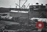 Image of US Army guarding supply ship in Siberia Soviet Russia World War 1 Siberia Soviet Union, 1917, second 5 stock footage video 65675060926