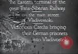 Image of Czech soldiers Vladivostok Russia, 1917, second 2 stock footage video 65675060927