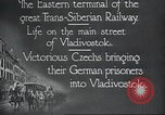 Image of Czech soldiers Vladivostok Russia, 1917, second 4 stock footage video 65675060927
