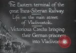 Image of Czech soldiers Vladivostok Russia, 1917, second 7 stock footage video 65675060927