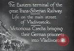 Image of Czech soldiers Vladivostok Russia, 1917, second 8 stock footage video 65675060927