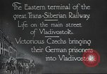 Image of Czech soldiers Vladivostok Russia, 1917, second 9 stock footage video 65675060927