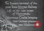 Image of Czech soldiers Vladivostok Russia, 1917, second 10 stock footage video 65675060927
