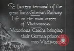Image of Czech soldiers Vladivostok Russia, 1917, second 11 stock footage video 65675060927