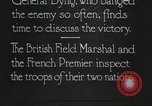 Image of British Field Marshal Julian Byng Europe, 1917, second 2 stock footage video 65675060930