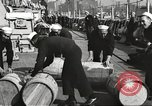 Image of sailors rolling barrels New York United States USA, 1922, second 7 stock footage video 65675060983