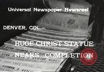 Image of huge statue of Christ Denver Colorado USA, 1934, second 3 stock footage video 65675061010