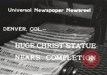 Image of huge statue of Christ Denver Colorado USA, 1934, second 6 stock footage video 65675061010