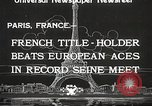 Image of swimmer Jean Taris Paris France, 1934, second 2 stock footage video 65675061014