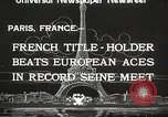 Image of swimmer Jean Taris Paris France, 1934, second 4 stock footage video 65675061014