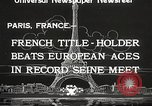 Image of swimmer Jean Taris Paris France, 1934, second 5 stock footage video 65675061014