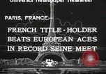 Image of swimmer Jean Taris Paris France, 1934, second 11 stock footage video 65675061014